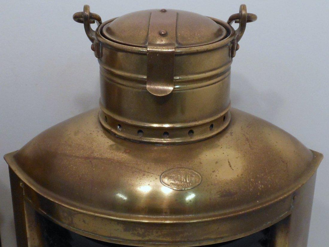 Vintage Pair of Perko Brass Ship Lights - 3