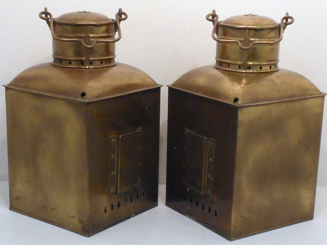 Vintage Pair of Perko Brass Ship Lights - 9