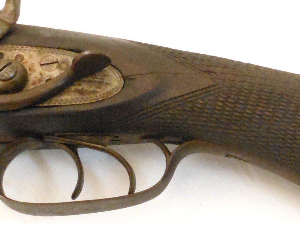 W. Richards 10 Gauge Double Barrel Hammer Shotgun - 10