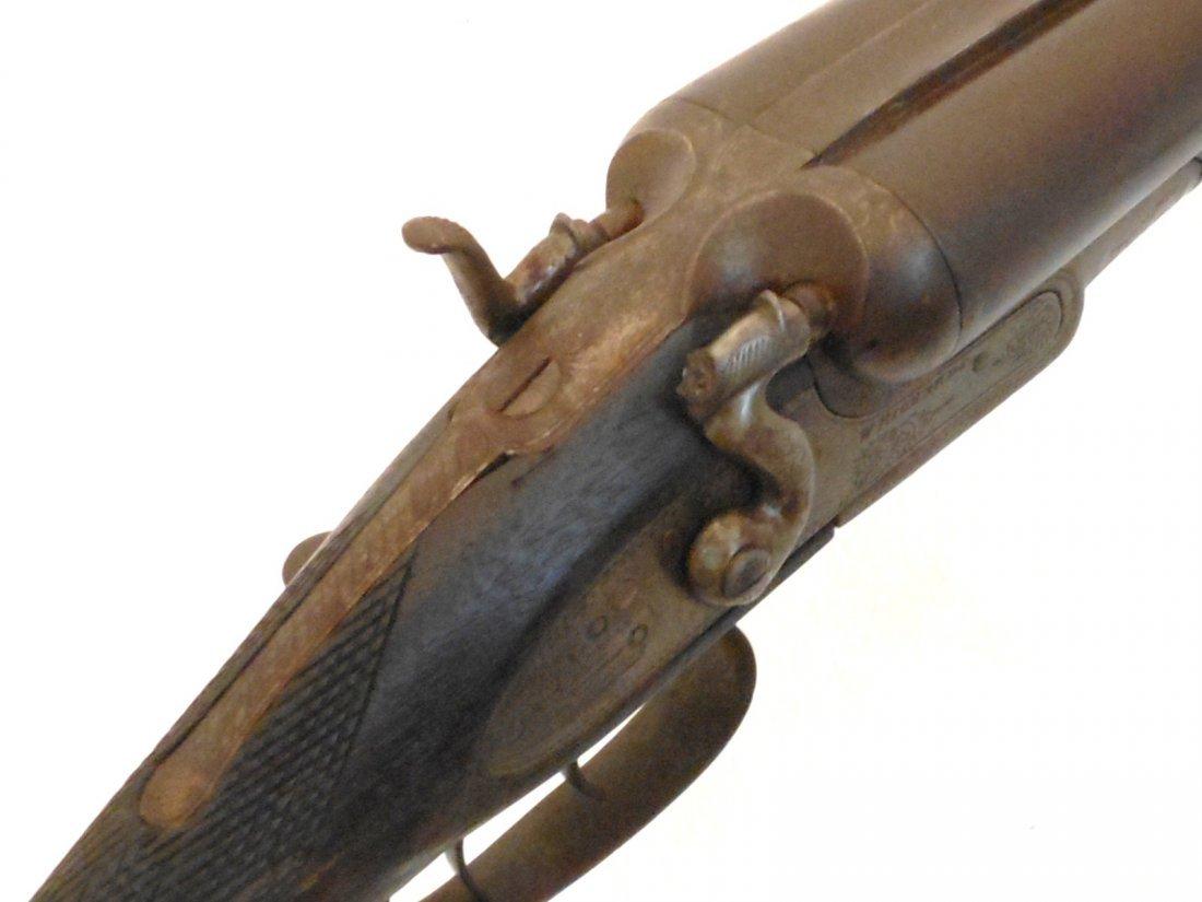 W. Richards 10 Gauge Double Barrel Hammer Shotgun - 5