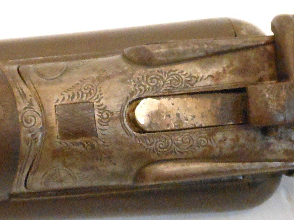 W. Richards 10 Gauge Double Barrel Hammer Shotgun - 8