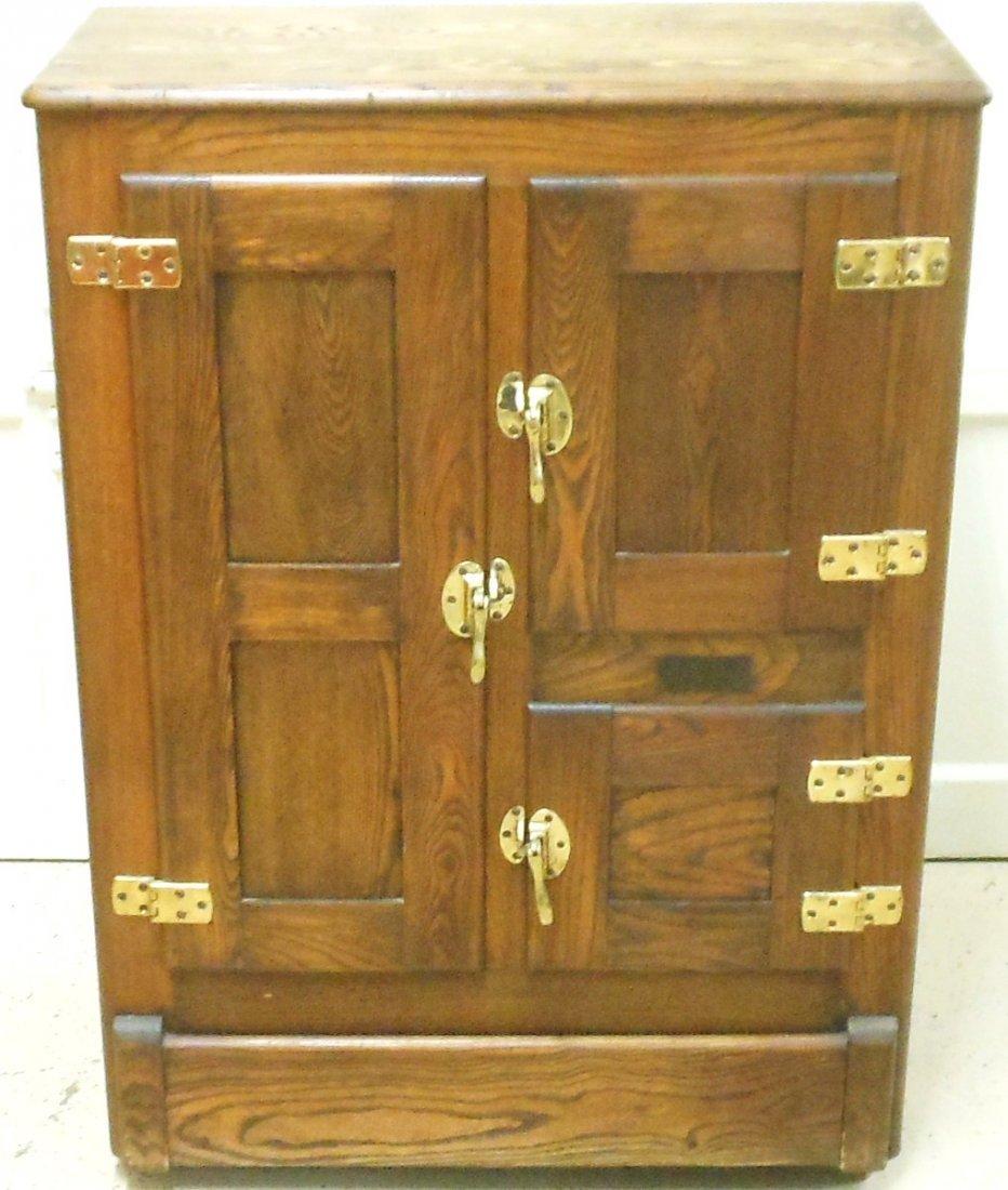Vintage Bay State Oak Ice Box