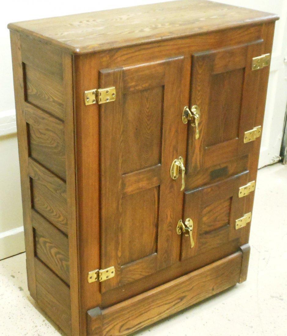 Vintage Bay State Oak Ice Box - 4