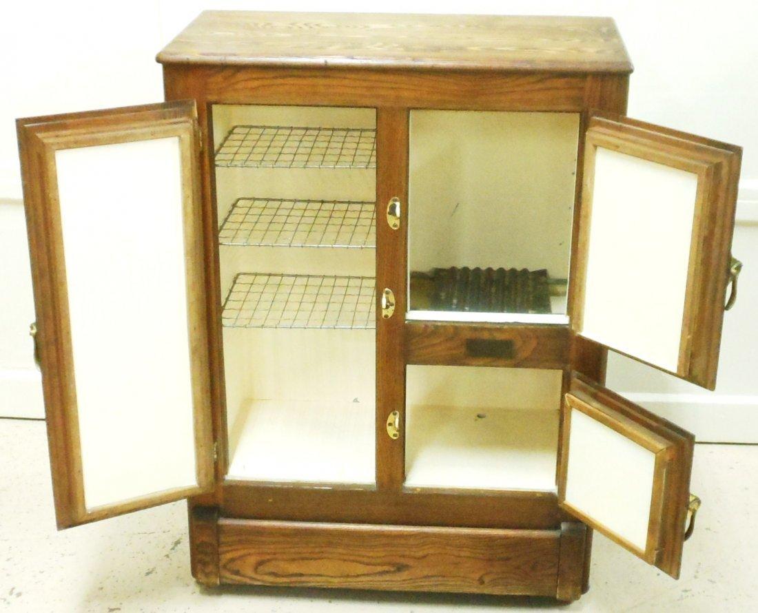 Vintage Bay State Oak Ice Box - 5