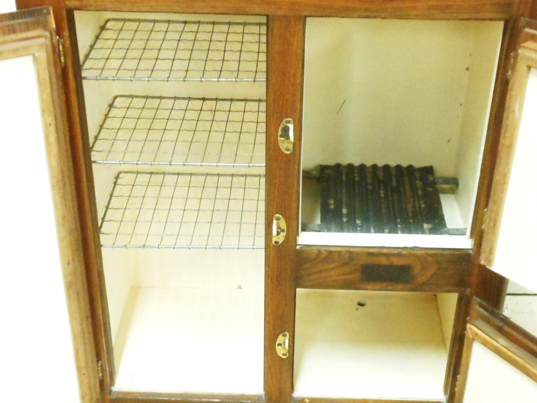 Vintage Bay State Oak Ice Box - 6