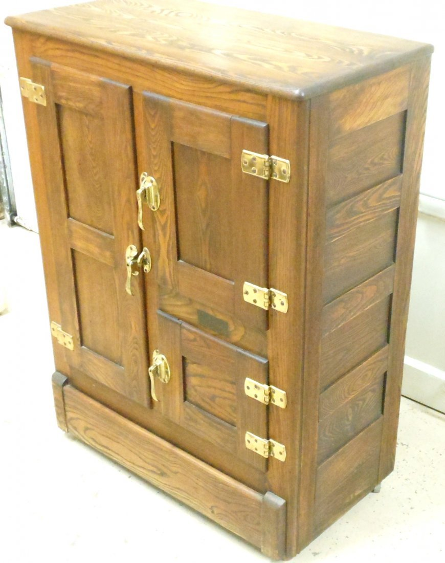 Vintage Bay State Oak Ice Box - 9
