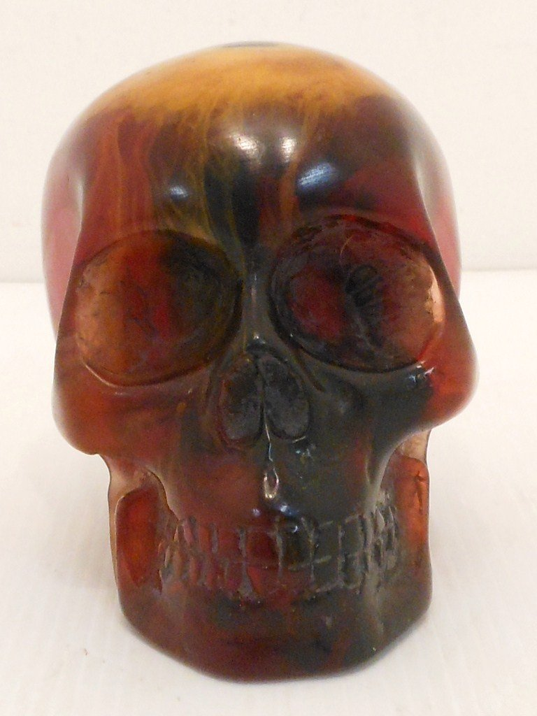 Hand Carved Copal Skull #3
