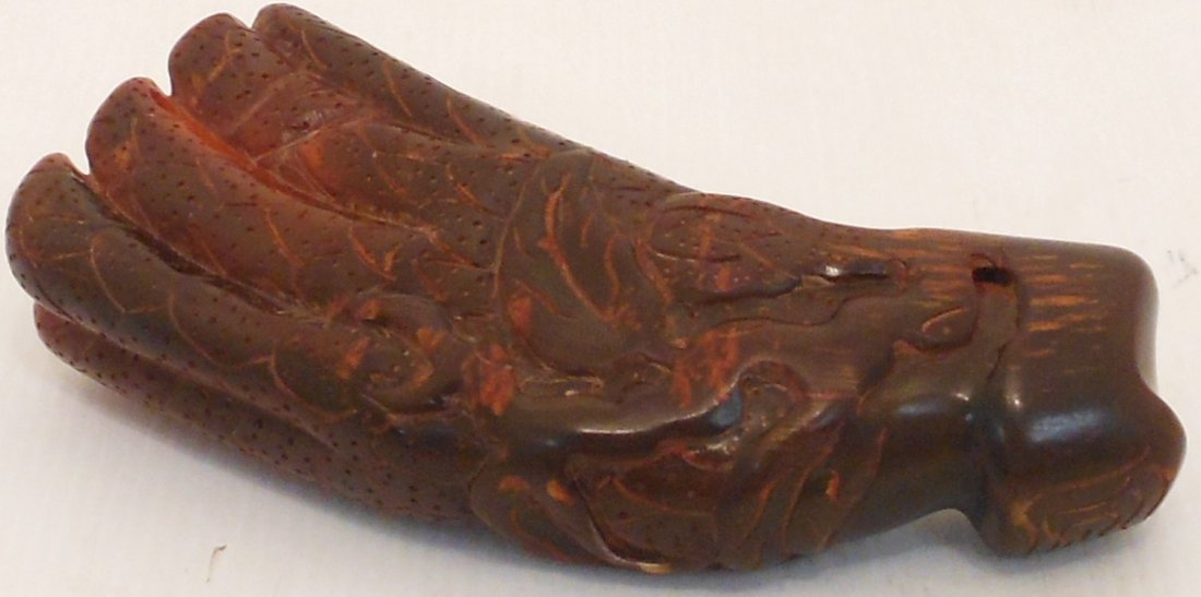 Carved Horn Libation Cup #1