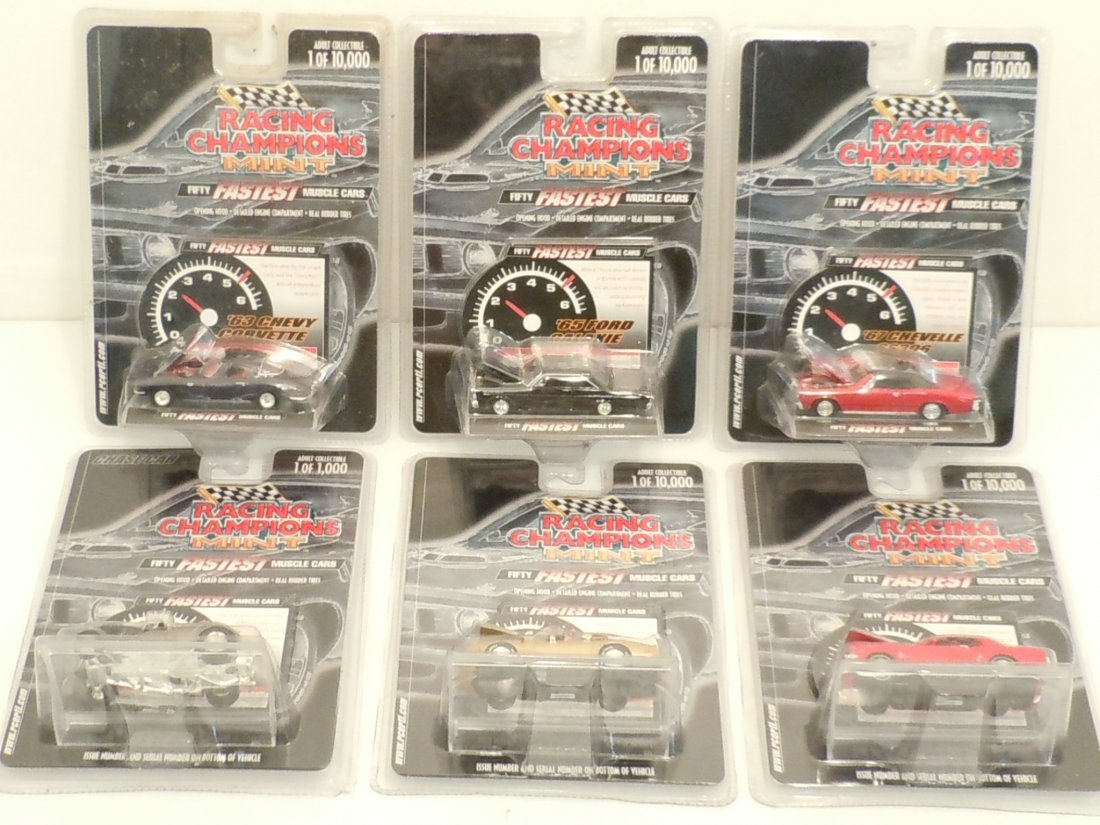 Lot Racing Champions Mint 50 Fastest Muscle Cars