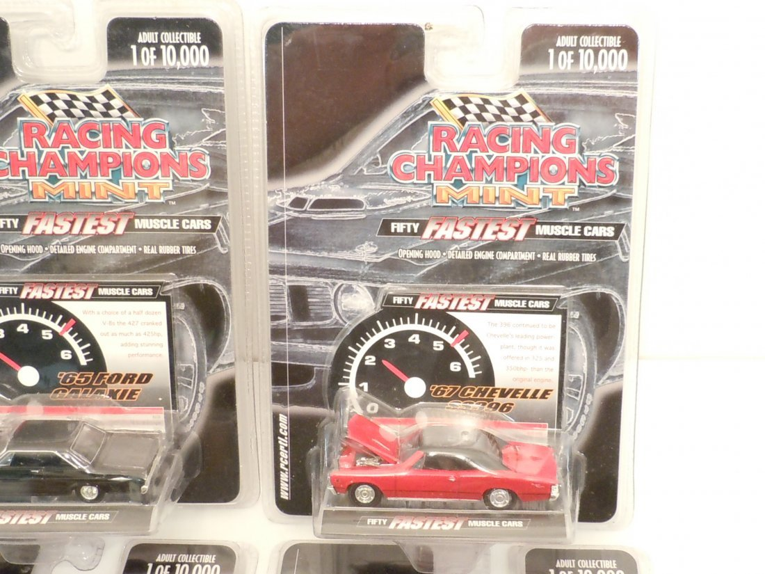 Lot Racing Champions Mint 50 Fastest Muscle Cars - 2