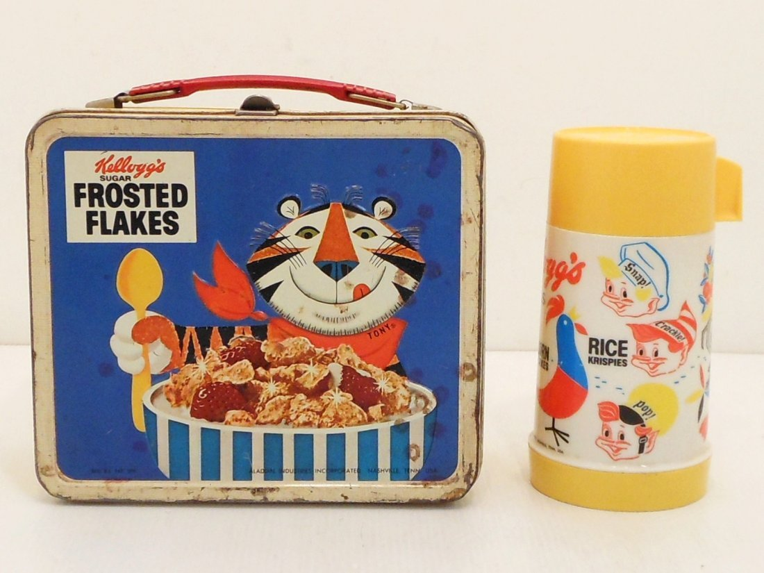 Vintage Kellogg's Cereals Lunch Box Thermos