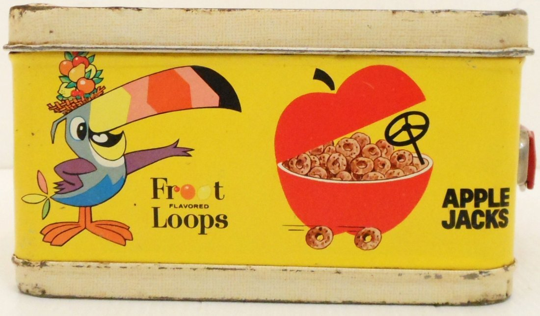 Vintage Kellogg's Cereals Lunch Box Thermos - 4
