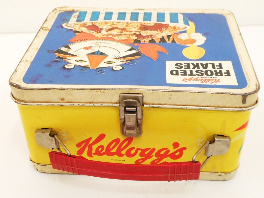 Vintage Kellogg's Cereals Lunch Box Thermos - 5