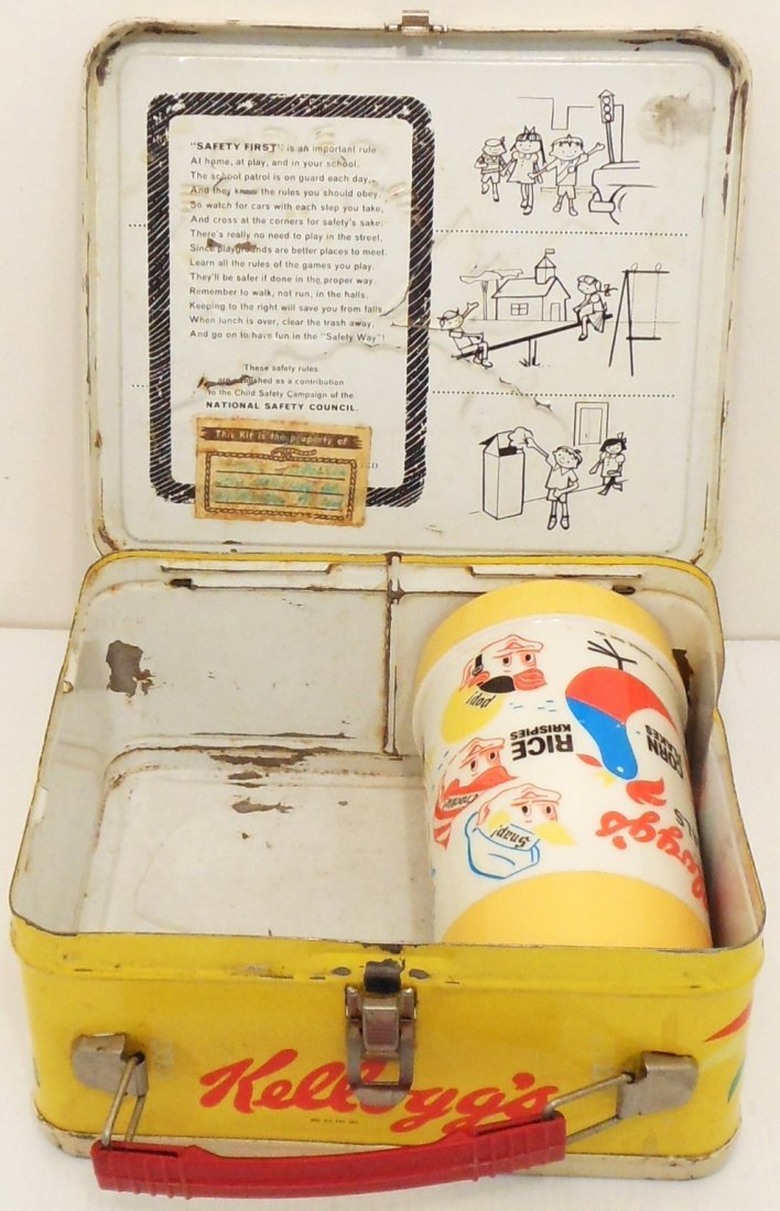 Vintage Kellogg's Cereals Lunch Box Thermos - 7