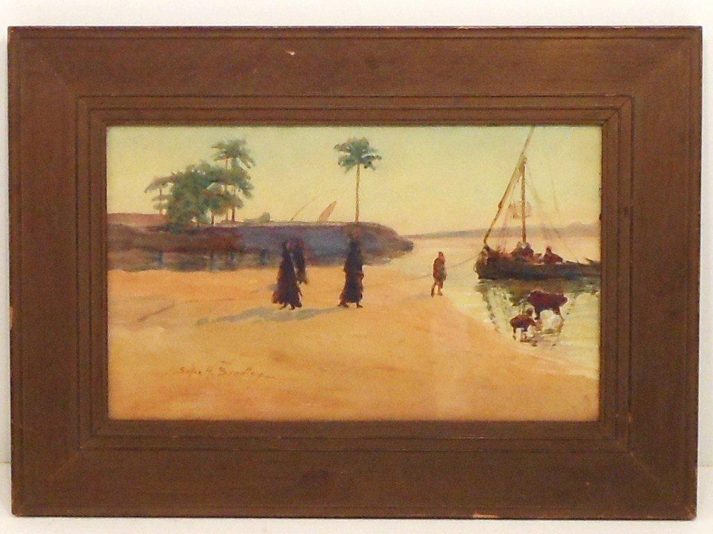 Watercolor Susan H. Bradley  Shore Landscape