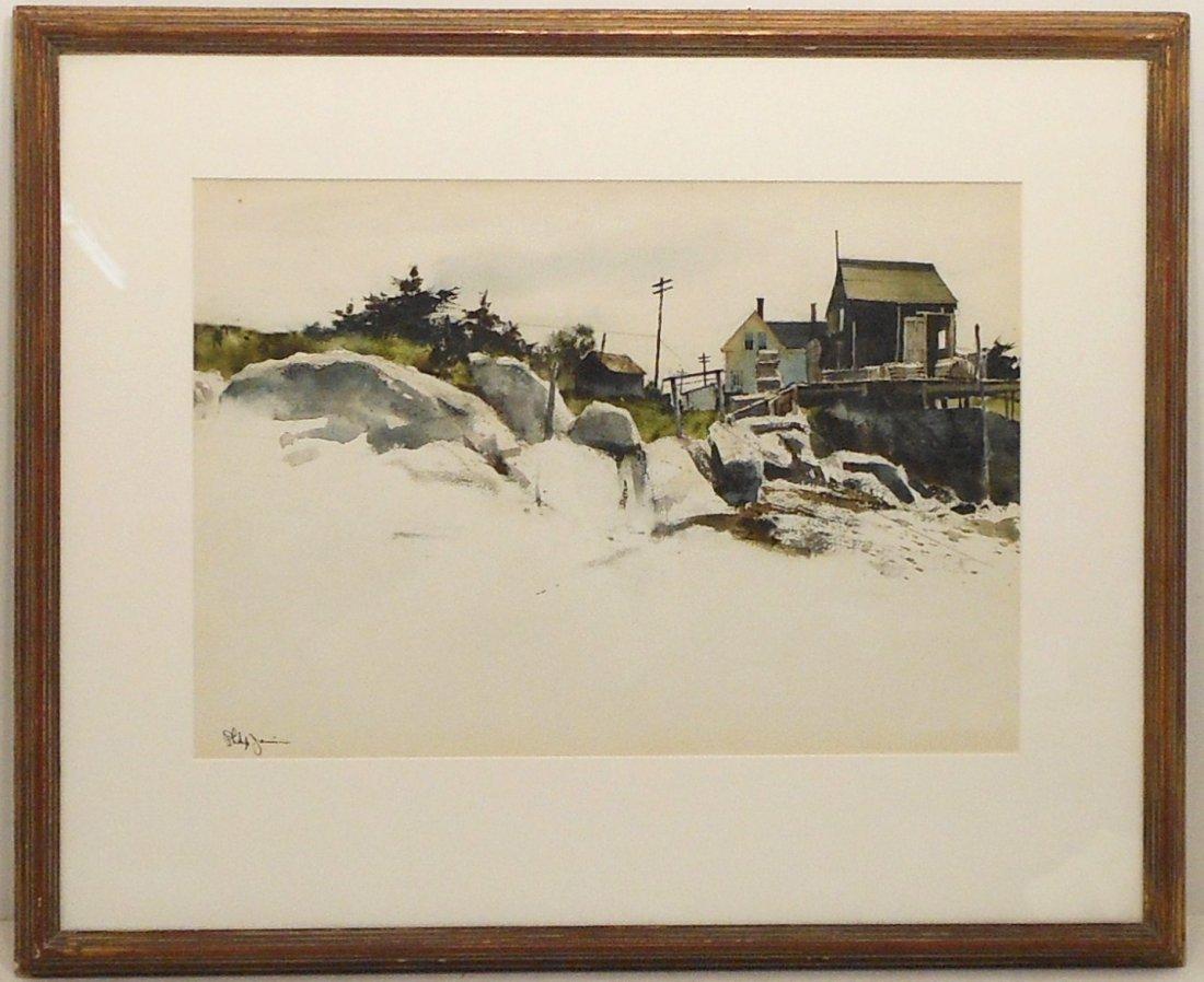 Watercolor Philip Jamison Shore Landscape