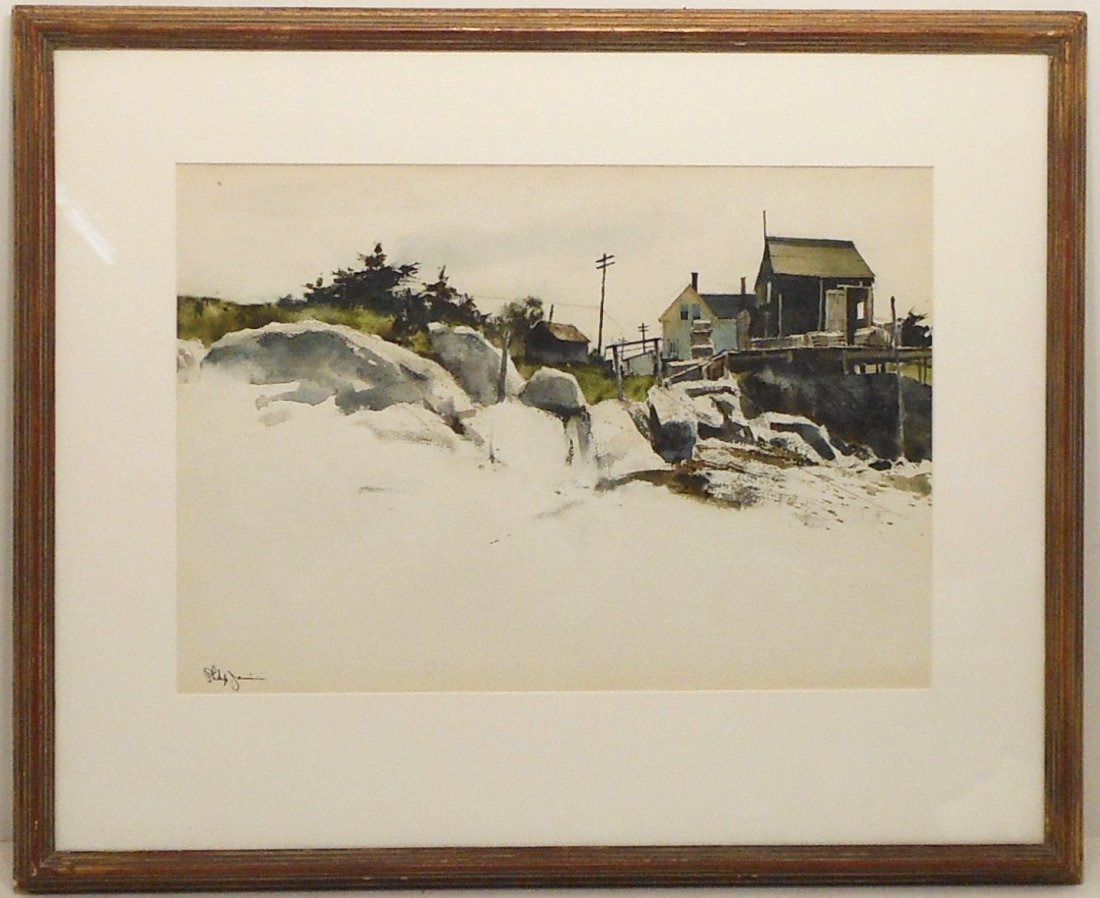 Watercolor Philip Jamison Shore Landscape