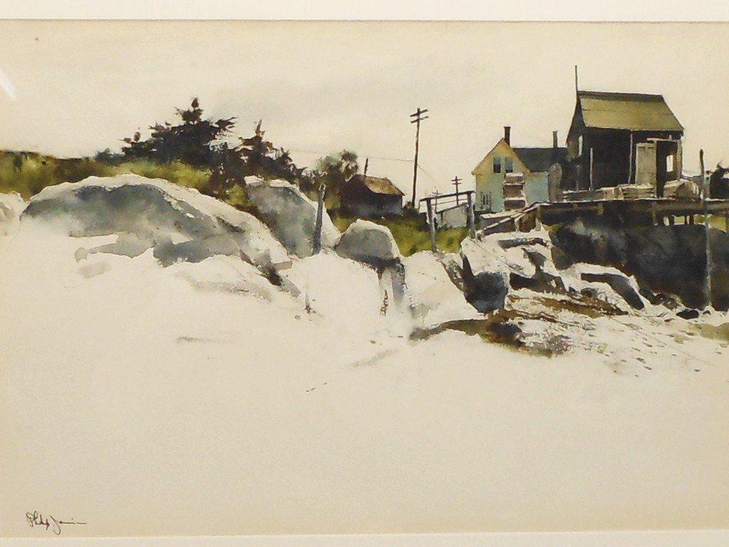 Watercolor Philip Jamison Shore Landscape - 2