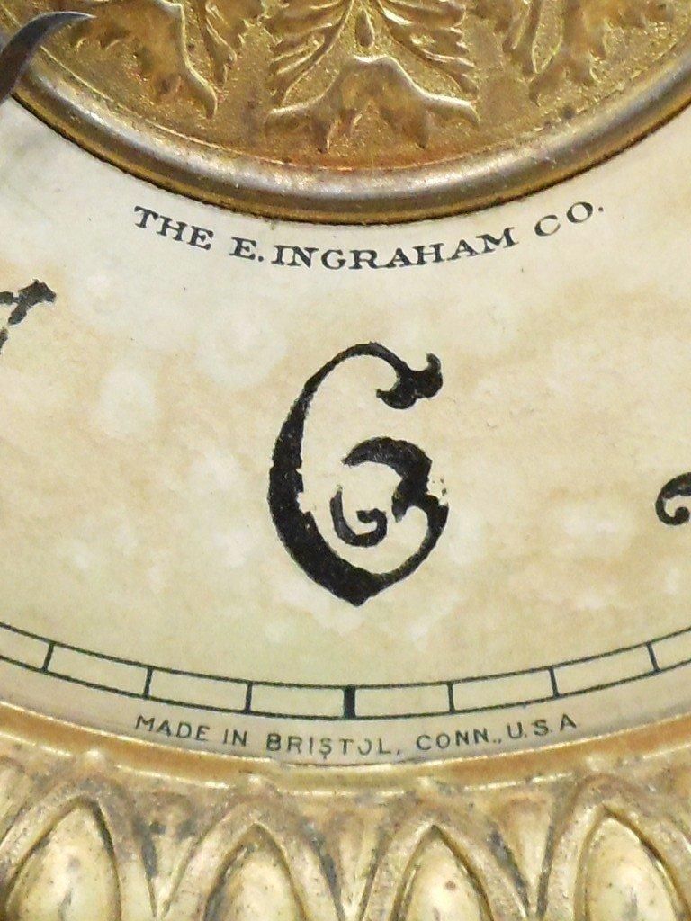 E Ingraham Mantel Clock Wizard - 4