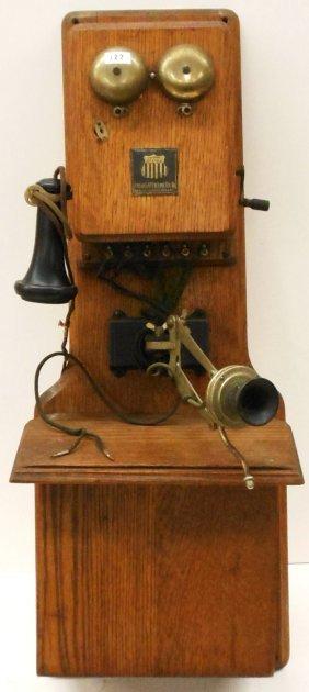 american electric 2 box wall telephone swing arm