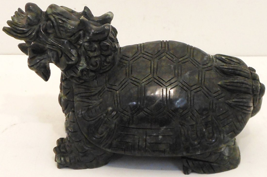Carved Stone Dragon Turtle