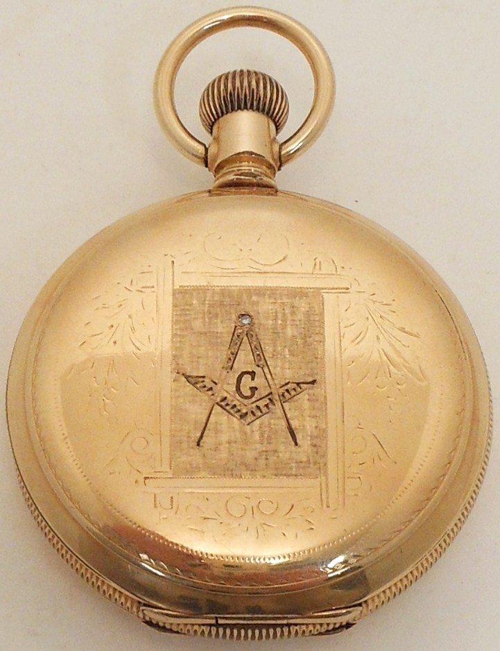 Keystone Hunter-Case Pocket Watch Elk's & Mason's