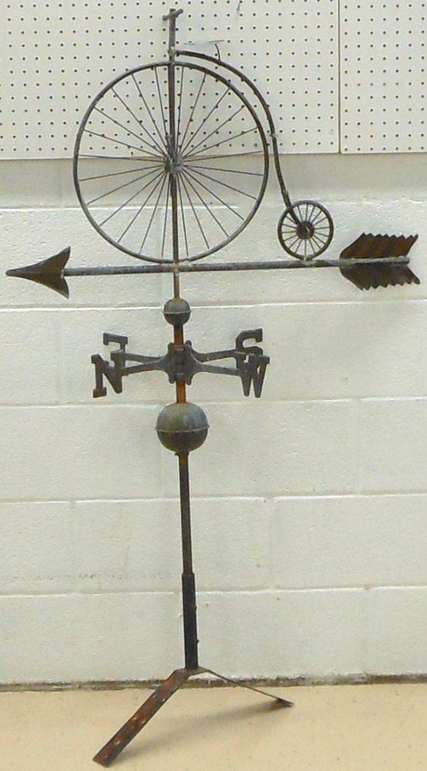 Vintage Weathervane Hi-Wheel Bicycle