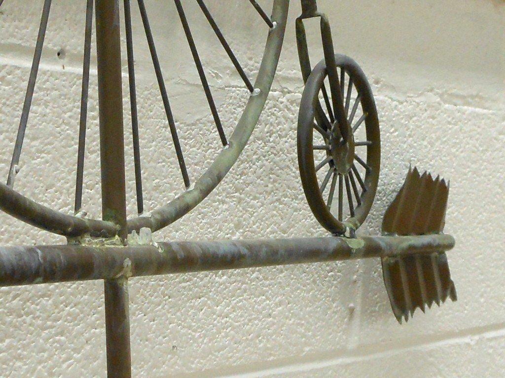 Vintage Weathervane Hi-Wheel Bicycle - 6