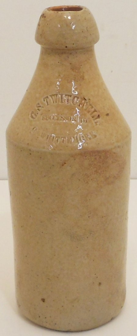 Antique G.S. Twitchell Stoneware Beer Bottle
