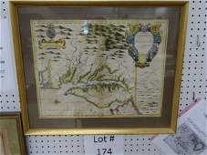 1676 Map of Virginia & Maryland