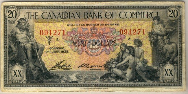 5: The Canadian Bank of Commerce 1935 $20 #091271.  Bri