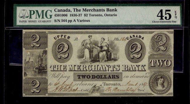 18: The Merchants Bank  1836-37 $2 #564 CH-450-10-06 PM