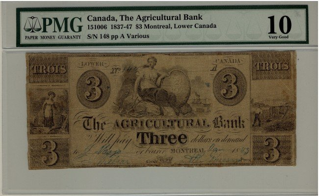 1: The Agricultural Bank, 1937-47 $3 #148, CH-15-10-06