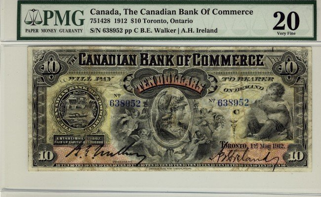 7: The Canadian Bank of Commerce, 1912 $10 #638952, CH-