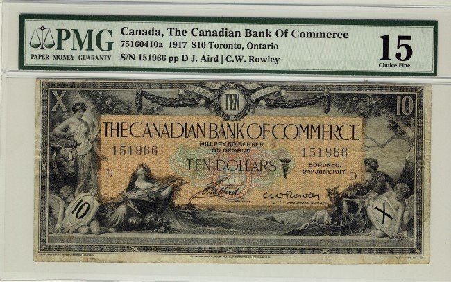 10: The Canadian Bank of Commerce, 1917 $10 #151966, CH