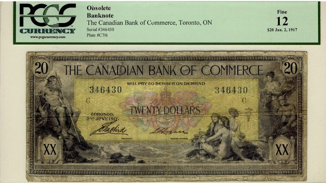 11: The Canadian Bank of Commerce 1917 $20 #346430, CH7