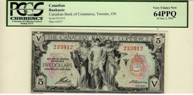 13: The Canadian Bank of Commerce, 1935 $5 #233912, CH7