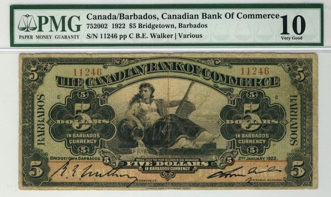 14: The Canadian Bank of Commerce 1922 $5 #11246, BARBA