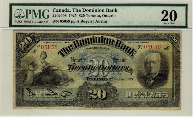 24: The Dominion Bank,  1925 $20 #05059, CH-220-20-08,