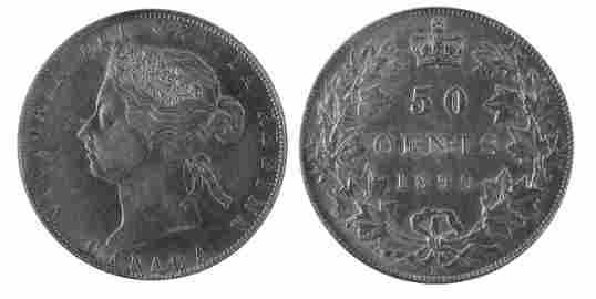 876: 1890H 50� PCGS AU50.  Brilliant and lustrous.  Exc