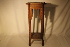 Small Square Marquetry Stand