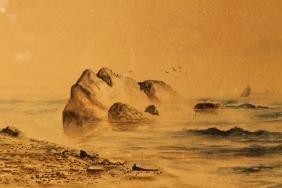Watercolor in Lemon Gilt Frame