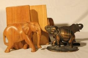 2 Sets of Elephant Bookends