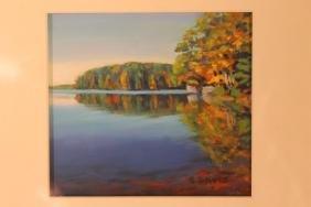 "Galen Davis ""Pond, Bright Blue Line"""