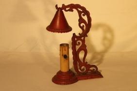 Red Ptd iron Budoir Lamp