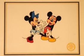 """Minnie Loves Mickey"" Serigraph Cel"