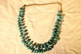 Native American Turquoise & Bead Necklace