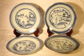 Lot of 4 Canton Plates