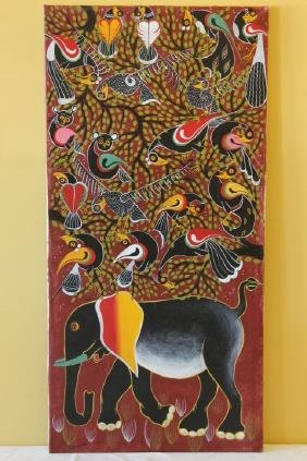 """Oil on Canvas, African Artist """"Anthony"""""""