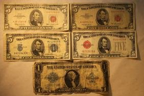 5 Assorted Bank Notes